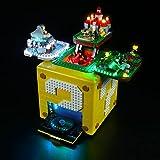 FanMei LED-Beleuchtung Nachrüst-Beleuchtungsset, passend für Lego 71395 Brick Vitrine für Question Mark Block von Super Mario 64, USB-Netzteil (außer Lego-Modell)