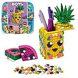 LEGO 41906 DOTS Ananas Stiftehalter, Schreibtisch-Organizer, Kinderzimmer-Deko, Bastelset, Kreativset für Mädchen und Jungen