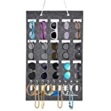 moonlux Tasche zum Aufhängen der Brille, Filztasche, 15 Slots Filz Tuch Wandtasche Hängen Brillen Display, 9 Slots Schlüsseltasche