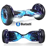 HappyBoard 10 Zoll Hoverboard mit 350W*2 Motor Bluetooth Self Balance Scooter E Board Elektroroller (Blauer Himmel)