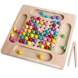 Holzspielzeug Holzpuzzle Brettspiel, Holz Clip Dots Shuttle Beads Brettspiel Go Spiele Set für Kinder, Lernspielzeug Matching-Spiel