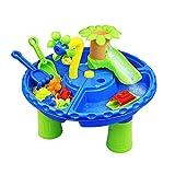 ChengBeautiful Wassertisch Sandwassertisch für Kleinkinder - Wasserspieltisch für Kinder im Freien und Indoor mit Zubehör und Werkzeuge Wasserspieltisch für Jungen und Mädchen Alter 2-10 Jahre alt