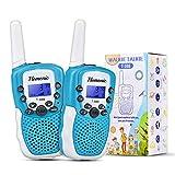 Walkie Talkie Kinder 2 x Radio, Radio-Spielzeug 3 km mit 8 Kanälen, LED-Fackel-Lampe, Kinderspiele für Kinder von 3 bis 12 Jahren