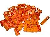 LEGO Classic 100 Stück orange 2x4 Steine (3001) mit Steinetrenner