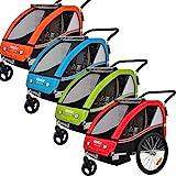 Veelar Sports 2 in 1 Kinderanhänger Fahrradanhänger Anhänger mit Buggy Set Jogger 50202-02 grün