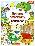 Erstes Stickern – Bauernhof: Über 350 Sticker   Erstes Stickerheft für Kindergarten-Kinder ab 3 Jahren