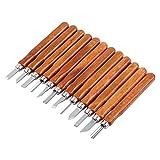 Holz Schnitzmesser, 12 Stück Holzschnitzerei Werkzeuge Messer Kit Schnitzmesser Kinder für Kohlenstoffstahl Wachs Gummi, Kleine Kürbis, Seife, Gemüse
