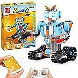 STEM Roboter Spielzeug Bausatz, 351-tlg Bausatz für Ferngesteuerte Bildungsroboter für Kinder ab 8 Jahren, Wiederaufladbare Heimwerker Roboterbausätze, Großartiges Kreatives Geburtstagsgeschenk