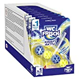 WC FRISCH Kraft Aktiv Duftspüler Lemon (10er Pack), WC Reiniger sorgt für Reinigung bei jeder Spülung, Duftsteine für langanhaltend frischen WC Duft