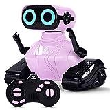 ALLCELE Roboter Kinder Spielzeug Mädchen, RC Roboter Spielzeug mit Fernbedienung, Süß Aussehen, Interessant Musik, Geschenk für Mädchen (Rosa)