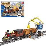 WEIZQ Technik Bausteine Auto Fernbedienung Zug mit Schienenset, 960 Teile Konstruktionsspielzeug Kompatibel mit Lego Technic -Dynamische Version