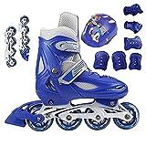 Inline-skates Für Kinder, Inline-skates Für Anfänger Oder Doppel-inline-skates, Mit Einem Kompletten Satz Schutzausrüstung(Size:3 /(20CM) /34)