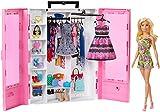 Barbie GBK12 - Traum Kleiderschrank mit Puppe und Puppenzubehör, Spielzeug ab 3 Jahren, Mehrfarbig