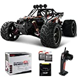 BEZGAR Ferngesteuertes Auto, 1/12 Wasserdichtes Off-Road Monster RC-Auto 38 Km/h Elektrisches Monsterspielzeug mit 2 wiederaufladbaren Batterien Geschenke für Jungen und Erwachsene