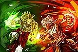 LIANXI Puzzle 1000 Teile Erwachsene-XXL-Dragon Ball Stärkster Krieger- Puzzle Kreative Erwachsene,Legespiel Puzzle,Puzzle Pädagogisches,Puzzle Stressfreisetzung Spielzeug 75 * 50Cm