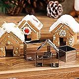 SHOPANTS Keksausstechformen Set Weihnachts Haus DIY Edelstahl Mini Haus Weihnachten Kinder Schokolade ausstecher Formen Dekorieren Werkzeuge Haus Biskuitform für Küche Cafe