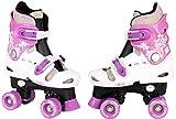Selltex Kinder Rollschuhe verstellbar 28 29 30 31 32 33 34 35 36 NEU Disco Roller (Lila, 32-36)
