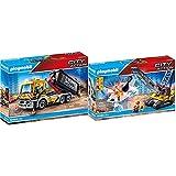 PLAYMOBIL City Action 70444 LKW mit Wechselaufbau, Ab 5 Jahren & City Action 70442 Seilbagger mit Bauteil, Ab 5 Jahren