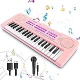Magicfun Klavier Keyboard Spielzeug für Kinder, 37 Minitasten Piano Keyboard, Musikspielzeug mit Tierklängen, Demo-Songs, Schlagzeug und Tempo,Geschenk für 2 3 4 5 Jahre alte Kleinkinder