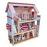 KidKraft 65054 Puppenhaus Chelsea aus Holz mit Möbeln und Zubehör, Spielset mit drei Spielebenen für 12 cm große Puppen