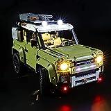 KCGNBQING LED-Beleuchtungskit für Lego Technic Land Rover Verteidiger, kompatibel mit Lego 42110 Bausteinen Modell- Nicht das Lego-Set einschließen Puzzle-Baugruppe