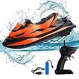 STOTOY Ferngesteuert Boot, Ferngesteuertes Boote für Pools und Seen, 10 km / h 2,4 G HZ Elektrisches Mini-Wasserfahrzeug-Boot für Kinder und Erwachsene, funkgesteuertes Outdoor-Wasserfahrzeug-Boot