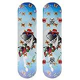 GCJJ-HSY Pro Skateboard 7-Layer Ahorndeck 31x8 Zoll Komplett Standard-Skateboard-Longboard, Geeignet Für Erwachsene/Teenager/Anfänger/Mädchen/Jungen/Kinder (Shark Mr.)