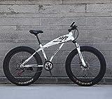 Outdoorsport 24'/26' 27Speed Mountainbike, Big Wheel Snowbike, Doppelscheibenbremse, Starke Stoßdämpfende Vordergabel, Outdoor Offroad Beachbike (Farbe: F, Größe: 26 Zoll)
