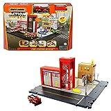 Matchbox HBD76 - Feuerwache Spielset, mit 1 Feuerwehrauto im Maßstab 1:64, Licht- und Soundeffekten und beweglichen Teilen, für Kinder ab 3 Jahren