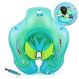 HONGCI Baby Schwimmring Baby Float Schwimmreifen mit Pumpe, Baby Schwimmen Ring Baby Schwimmhilfe Kinder Schwimmring Aufblasbarer Einstellbare Life Boje Schwimmtrainer für Baby (3-12 Monate)