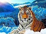 ZMGYA 1000 Piece Jigsaw Puzzle for Adults Tiger in The snow-2000 Herausforderndes Puzzlespiel Familienspiel,Geschenk und Geschenk für Liebhaber oder Freunde
