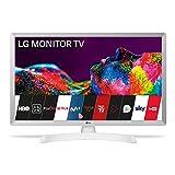 LG 24TN510S- WZ 60 cm (24 Zoll) Smart TV Monitor HD 1366x768 16:9 DVB-T2/C/S2 WLAN Miracast 10W 2x HDMI 1.4 1x USB 2.0 optisch, LAN RJ45 VESA 75x. 75), Weiß