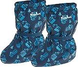 Playshoes Baby , leichte Fleece Krabbel-Schuhe für Jungen und Mädchen, mit Baustelle-Motiv, Blau (marine 11), S
