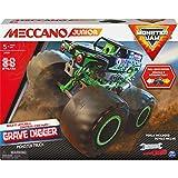 MECCANO 6060171 MEC JNR FR GML Junior, offizielles Monster Jam Grabbagger, Monstertruck STEM Modellbausatz mit Rückzugmotor, Kinderspielzeug für Kinder ab 5 Jahren