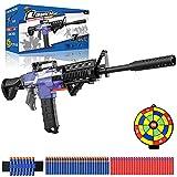 Elektrische Spielzeug Pistole für Nerf Pfeile, Automatische M416 Blaster groß mit 12 Clip Magazin, 100 Munition, 3 Modi Schuss USB Aufladbare Kinder Gewehr, Geschenk Junge Jungendliche Erwachsene