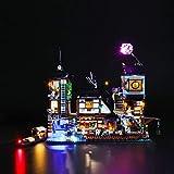 BRIKSMAX Led Beleuchtungsset für Lego Ninjago City Hafen,Kompatibel Mit Lego 70657 Bausteinen Modell - Ohne Lego Set