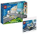 Collectix Lego City Set - Lego City Straßenkreuzung mit Ampeln 60304 + Lego City Polizeiauto 30366 (Polybag)