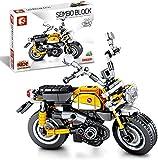 JazzMoon Motorrad Bauset, Harley Motors 300+ Bausatz für Motorrad Modell, Bausteine Sets Kompatibel mit Lego Technic, Sammlerstück Superbike Display Modell (Affe)