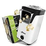 Liebfeld - Popcornmaschine für Zuhause I Popcorn Maker Machine [inkl. Pop Corn Guide] I Popcornmaker ohne Fett & Öl I Popcorn Popper (Weiß)