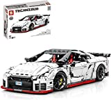 MOMAMO Technics Rennwagen für Nissan GTR, 4098Pcs 1:8 Sportwagen Supercar Speed Champions Sammlermodell Advanced Building Set, Kompatibel mit Lego Technic