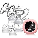 Elektrische Milchpumpe, NEKAN Doppel Milchpumpen Tragbare Doppelpump-Milchpumpe Milchpumpe mit intelligentem LCD Touchscreen mit Muttermilchabsaugung, Brustmassage und Laktationsfunktion