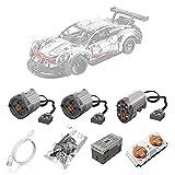 BrickSpiel Motoren und Fernbedienung Set für Lego 42096 technic Porsche 911 RSR, Upgrade Zubehör für Lego Technik 42096 (Nicht Enthalten Lego Modell)