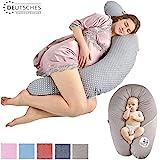 Sei Design Stillkissen Schwangerschaftskissen Lagerungskissen Ökotex zertifiziert  Füllung EPS-Mikroperlen. Bezug 100% Baumwolle, abnehmbar XXL 190 x 30 cm
