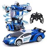 Vubkkty Roboter Spielzeug für Kinder , 2 in 1 Fernbedienung Transformator RC Auto, 1:18 Scale Transform Spielzeug für Kinder 6 7 8 9 10 11 12