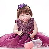 TTWLJJ Simulation Baby Reborn Baby Doll Realistische niedliche Neugeborenen Weiche Puppe 23 Zoll Für Kinder Geburtstags-Geschenk
