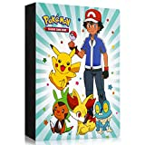 Sinwind Pokemon Sammelalbum, Pokemon Karten Album, Pokemon Karten Halter, Pokemon Ordner Karten Album Buch , 30 seitig Kann bis zu 240 Karten aufnehmen (NewXZ)