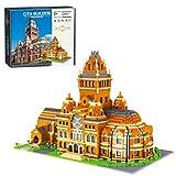 WEERUN 5379 Teilen Harvard Universität Modell Berühmte Universität Architektur Bausteine Bausatz, DIY Modular Haus Modular Building Klemmbausteine, Geschenk für Kinder und Erwachsene