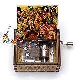 HUABIAO Musikwerk Spieluhr Thema Ruffy Anime One Piece Antike Geschnitzte Handkurbel Home Decor Geschenke zum Geburtstag