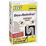 HG Duo Rohrfrei - Kraftvolle Abflussreiniger für Hartnäckigste Verstopfungen - Gebrauchsfertig - Farblos - 1L