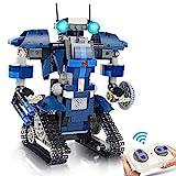 Gxi Ferngesteuert Roboter Kinder Spielzeug, 405 Teile STEM Technik Bausteine Spielzeug für Jungen per APP und Fernbedienung Roboterbausatz Pädagogisch Bauspielzeug für Kinder Alter 8 9 10 11 12 Jahre